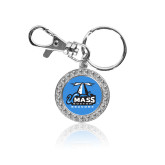 Crystal Studded Round Key Chain-Primary Logo