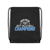 Black Drawstring Backpack-2017 Volleyball Champions