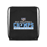 Black Drawstring Backpack-2017 Volleyball Champs