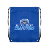 Royal Drawstring Backpack-2017 Volleyball Champions