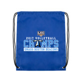 Royal Drawstring Backpack-2017 Volleyball Champs