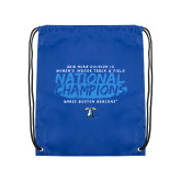 Royal Drawstring Backpack-2018 Womens Indoor Track and Field Champions - Brush