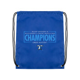 Royal Drawstring Backpack-2018 Womens Indoor Track and Field Champions - Box
