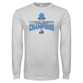 White Long Sleeve T Shirt-2018 Womens Basketball Champions