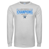 White Long Sleeve T Shirt-2018 Womens Indoor Track and Field Champions - Box