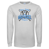 White Long Sleeve T Shirt-Softball Champions