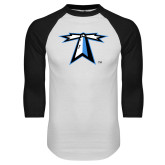 White/Black Raglan Baseball T Shirt-Lighthouse