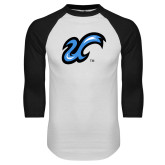 White/Black Raglan Baseball T Shirt-The U