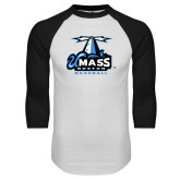 White/Black Raglan Baseball T Shirt-Baseball