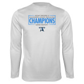 Performance White Longsleeve Shirt-2018 Womens Indoor Track and Field Champions - Box