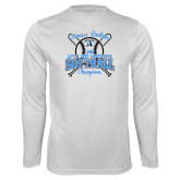 Performance White Longsleeve Shirt-Softball Champions