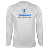 Performance White Longsleeve Shirt-2018 Womens Outdoor Track and Field Champions