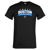 Black T Shirt-Arched UMass Boston Beacons