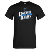 Black T Shirt-UMass Boston Beacons Hockey Slanted