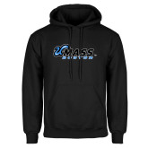 Black Fleece Hoodie-UMass Boston Horizontal