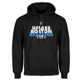 Black Fleece Hoodie-UMass Boston Beacons Hockey Distressed
