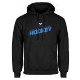 Black Fleece Hoodie-UMass Boston Beacons Hockey Slashed