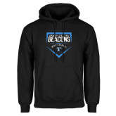 Black Fleece Hoodie-Beacons Softball Plate