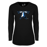 Ladies Syntrel Performance Black Longsleeve Shirt-Lighthouse