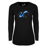 Ladies Syntrel Performance Black Longsleeve Shirt-The U
