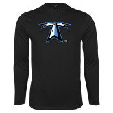 Performance Black Longsleeve Shirt-Lighthouse
