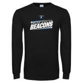 Black Long Sleeve T Shirt-Slanted Beacons Stencil