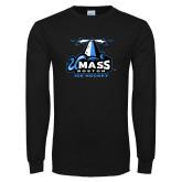 Black Long Sleeve T Shirt-Ice Hockey