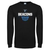 Black Long Sleeve T Shirt-Beacons Basketball Net