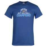Royal T Shirt-2017 Volleyball Champions