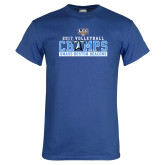 Royal T Shirt-2017 Volleyball Champs
