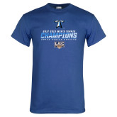 Royal T Shirt-Umass Boston 2017 2013 Mens Tennis Champs
