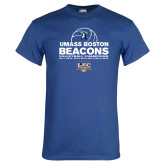 Royal T Shirt-Umass Boston 2017, 2016, 2015, 2013, 2012, 2011, 2010, Volleyball Champs