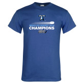 Royal T Shirt-Umass Boston 2016 Mens Ice Hockey Champs