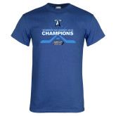 Royal T Shirt-Umass Boston 2016 Woens Ice Hockey Champs