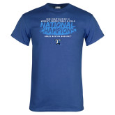 Royal T Shirt-2018 Womens Indoor Track and Field Champions - Brush