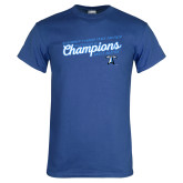 Royal T Shirt-2018 Womens Indoor Track and Field Champions - Script