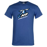 Royal T Shirt-Italicized UMass Boston Athletics