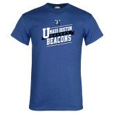 Royal T Shirt-UMass Boston Beacons Hockey Slanted