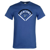 Royal T Shirt-Beacons Baseball Stencil Diamond