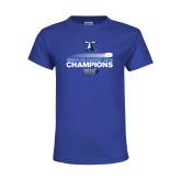 Youth Royal T Shirt-Umass Boston 2016 Mens Ice Hockey Champs