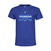 Youth Royal T Shirt-Umass Boston 2016 Woens Ice Hockey Champs
