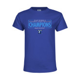 Youth Royal T Shirt-2018 Womens Indoor Track and Field Champions - Box