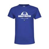 Youth Royal T Shirt-UMass Boston Soccer Stacked