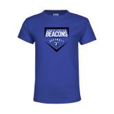 Youth Royal T Shirt-Beacons Softball Plate
