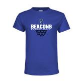 Youth Royal T Shirt-Beacons Basketball Net