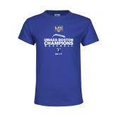 Youth Royal T Shirt-Umass Boston 2017 Baseball Champs