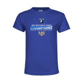 Youth Royal T Shirt-Umass Boston 2017 2013 Mens Tennis Champs