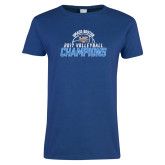 Ladies Royal T Shirt-2017 Volleyball Champions