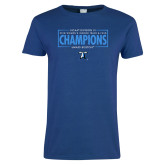 Ladies Royal T Shirt-2018 Womens Indoor Track and Field Champions - Box
