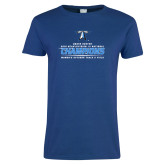 Ladies Royal T Shirt-2018 Womens Outdoor Track and Field Champions